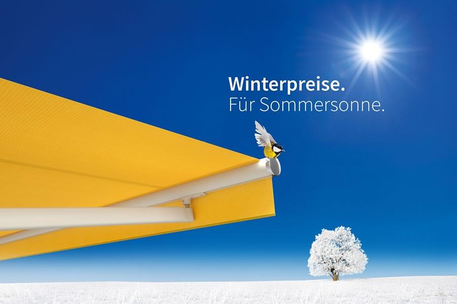 Winterrabatt auf ausgewählte Markilux-Markisen