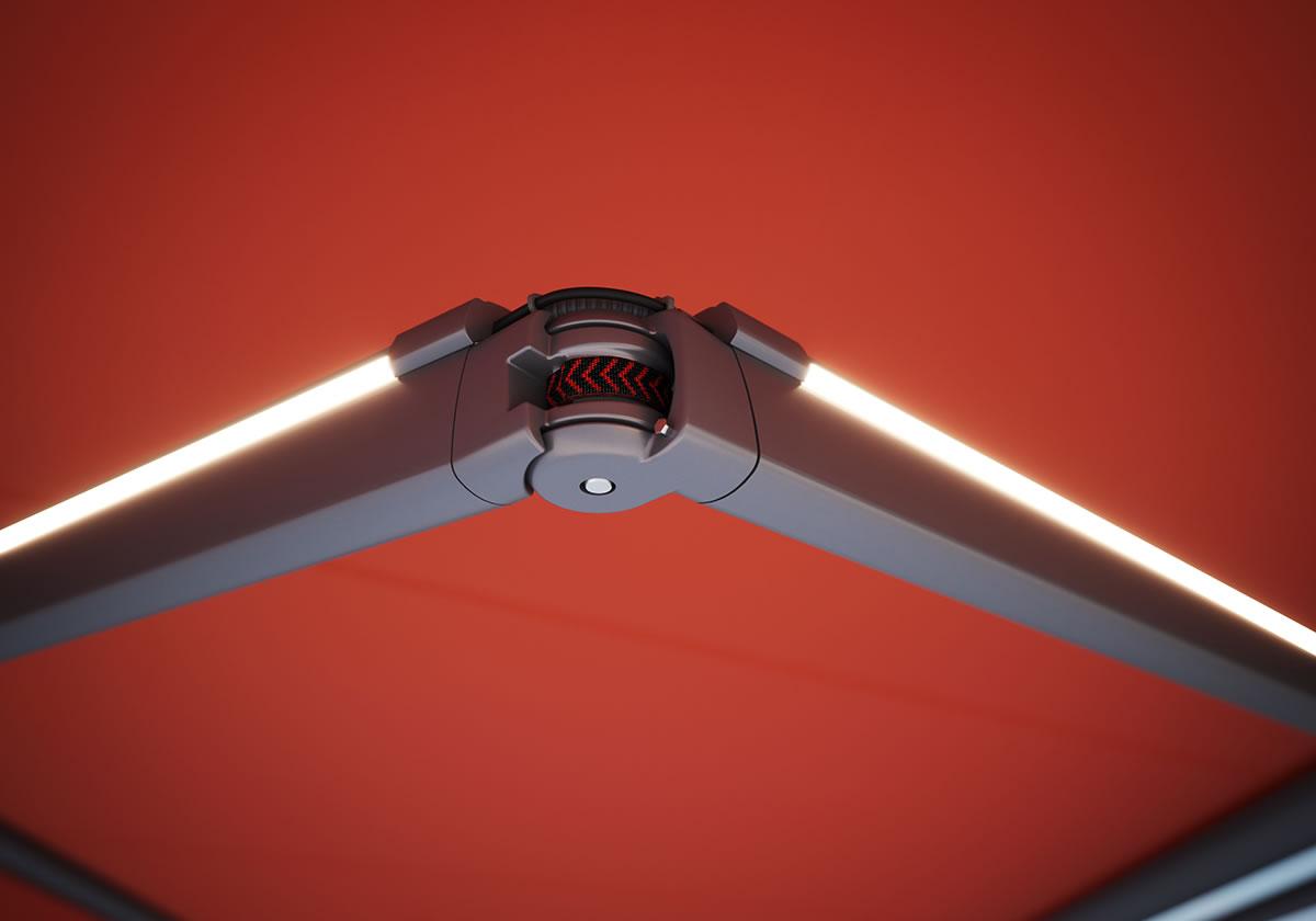 markilux Armtechnologie_Detail LED-Line Gelenkarm