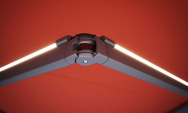 markilux Detail LED-Line Gelenkarm